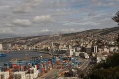 Sydamerika för stadshavsport byggnad arkivfoton
