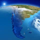 Sydamerika - Patagonia royaltyfri illustrationer