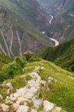 Sydamerika - Peru, Inca fördärvar av Choquequirao royaltyfri bild
