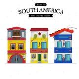 Sydamerika radhus hem- uppsättning - Royaltyfria Foton