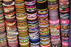 Sydamerika traditionella hantverk presentaffär, Peru royaltyfria bilder