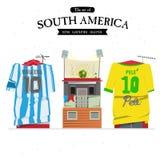 Sydamerika uppsättning Fotografering för Bildbyråer