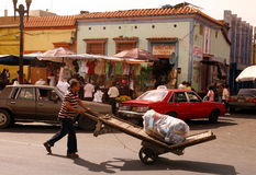 SYDAMERIKA VENEZUELA MARACAIBO STAD Arkivfoto