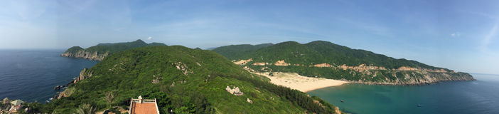 Sydkinesiska havetkustlinje arkivfoto