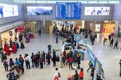 Sydkorea internationell flygplats Incheon - färgrik show i na royaltyfri foto