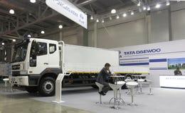 Sydkoreansk företagsDaewoo bil Arkivbilder