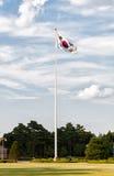 Sydkoreansk flagga Arkivfoto