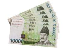 Sydkoreansk valuta Arkivbild
