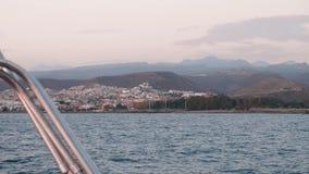 Sydkust av Gran Canaria Sikt från fartygsegling i havet stock video