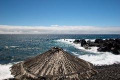 Sydkust av madeira Arkivfoto