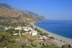 sydlig crete sougia Royaltyfri Bild