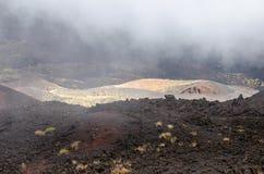 Sydlig flank av Mount Etna arkivfoto