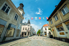 Sydlig gatasikt i Karlshamn Royaltyfri Foto