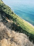 Sydlig Kalifornien kust- sikt royaltyfria foton