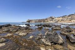 Sydlig Kalifornien tidvattens- tips Fotografering för Bildbyråer
