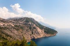 Sydlig kust av Kroatien. Royaltyfri Foto