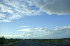 Sydlig Mojaveöken, CA Arkivbild