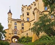 sydlig slott för slottgermany hohenschwangau fotografering för bildbyråer