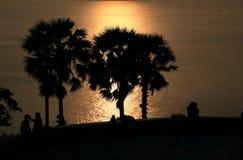 sydlig solnedgång Arkivbilder