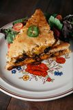 Sydlig stil grillad ostsmörgås Royaltyfria Bilder