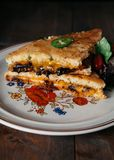 Sydlig stil grillad ostsmörgås Royaltyfria Foton