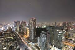 Sydlig Tokyo horisont som sett från World Trade Center arkivfoto