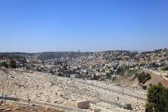 Sydliga Jerusalem från Mount of Olives Royaltyfria Foton