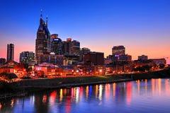 Sydliga Nashville på nätterna Arkivfoto