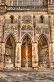 Sydliga portar av den StVitus domkyrkan i Prague, Tjeckien Royaltyfri Foto