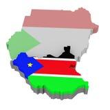 sydliga sudan Arkivbild