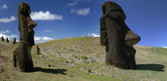 sydligt för hav för easter ömoai Stillahavs- royaltyfri bild