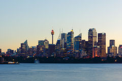 Sydne City at evening. Sydney,NSW,Australia Royalty Free Stock Photos