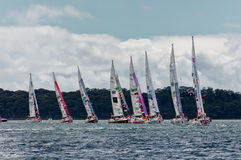 Sydney à raça de iate de Hobart Fotografia de Stock