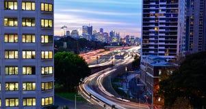 Sydney światła ślada Fotografia Royalty Free