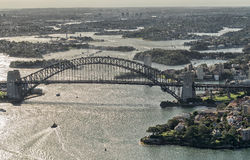 Sydney aerial view from helicopter, Australia Stock Photo