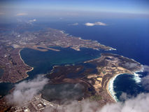 Sydney From The Air. Shot of Botany bay in Sydney from a plane Royalty Free Stock Photography