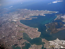 Sydney From The Air Royalty Free Stock Image