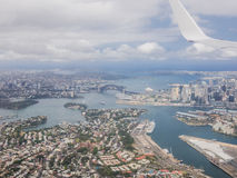 Sydney by air. With the Opera Stock Photos