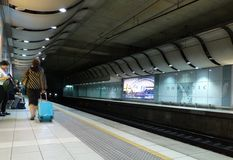 Sydney Airport Domestic Railway Station Stock Photo