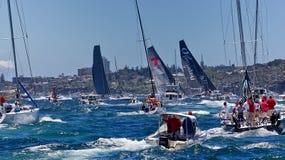 Sydney alla corsa dell'yacht di Hobart Immagini Stock Libere da Diritti