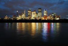 Sydney alla notte immagine stock libera da diritti