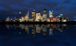 Sydney alla notte Fotografie Stock