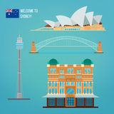 Sydney arkitektur Turism Australien vektor illustrationer