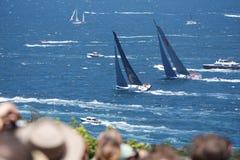 Sydney au chemin de yacht de Hobart Image libre de droits