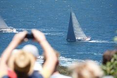 Sydney au chemin de yacht de Hobart Images stock
