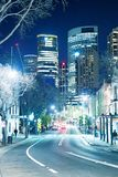 SYDNEY - AUGUST 17, 2018: Night view of The Rocks district. This stock images