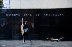 SYDNEY, AUSTRÁLIA - 5 DE MAIO DE 2018: Reserve Bank da construção de Austrália imagens de stock royalty free