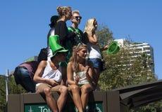 SYDNEY, AUSTRÁLIA - 17 de março: Olhando a paridade do dia do St Patrick Fotografia de Stock