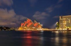 SYDNEY, AUSTRÁLIA - 11 de novembro de 2016, illumi de Sydney Opera House Imagens de Stock Royalty Free