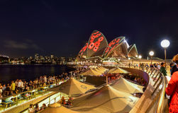 SYDNEY, AUSTRÁLIA - 11 de novembro de 2016, illumi de Sydney Opera House Foto de Stock